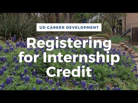 UD Internship Registration Guide via Handshake