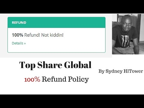 TopShare Global | 100% Refund policy | Not Kiddin | Review by Sydney Hi Tower