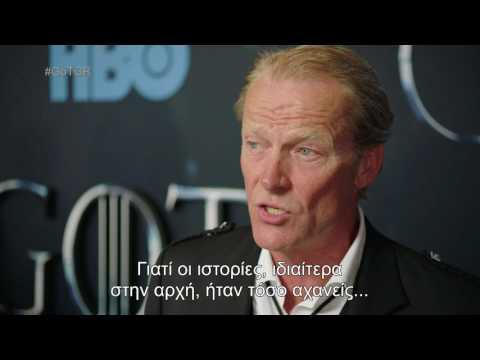 IAIN GLEN (Jorah Mormont) – GOT VII Red Carpet