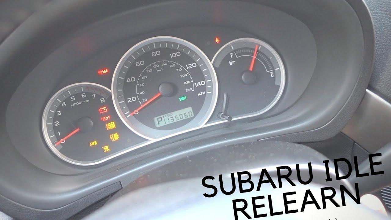 How to do Idle Relearn Subaru Impreza