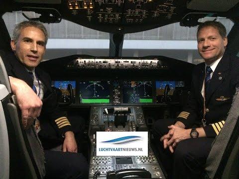 Boeing 787 Dreamliner simulator van KLM