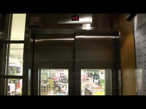 The nice KONE Traction scenic elevators @ PUB, Stockholm, Sweden.