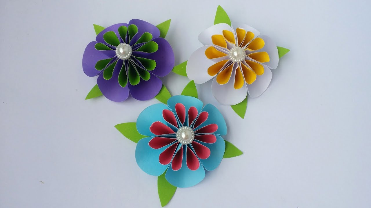 Diy paper flower how to make tiny paper flowers using colour diy paper flower how to make tiny paper flowers using colour paper easy tutorial mightylinksfo