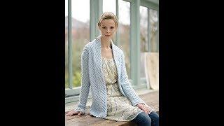 Вязание Кардигана Спицами для начинающих - образцы моделей 2018 / Knitting Cardigan with Spokes