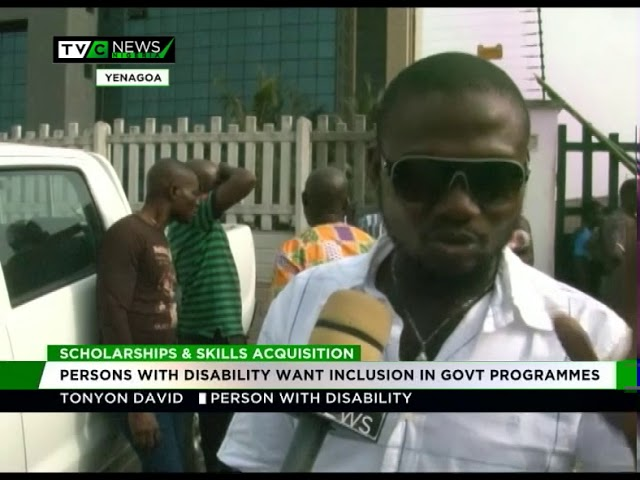 Persons with disability want more access to scolarships and skill acquisition programmes