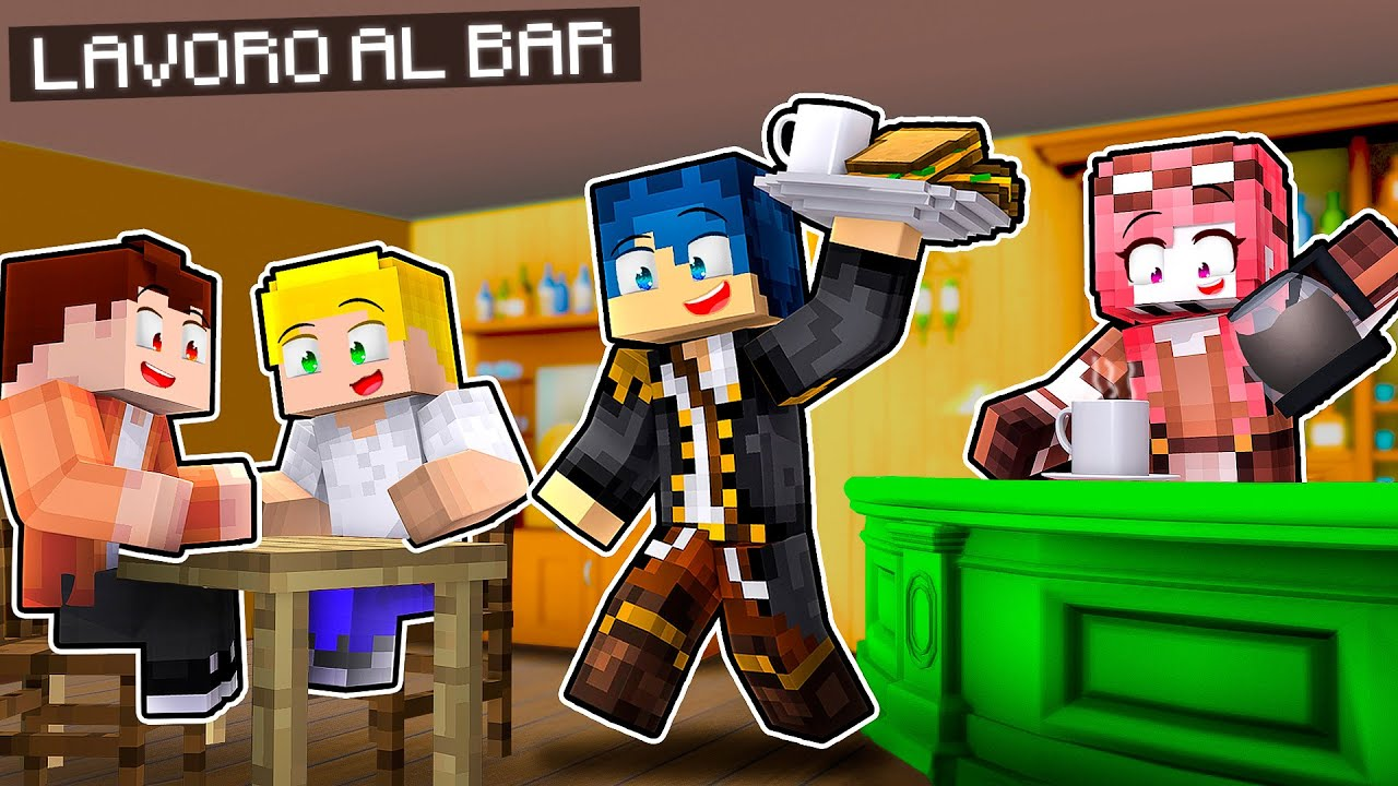 LAVORO IN UN BAR DI MINECRAFT PER 24 ORE! - TPOC ADVENTURES