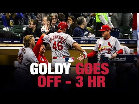 Paul Goldschmidt's first 3 home runs in a Cardinals uniform