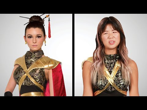"Asian Americans Try ""Asian"" Halloween Costumes"