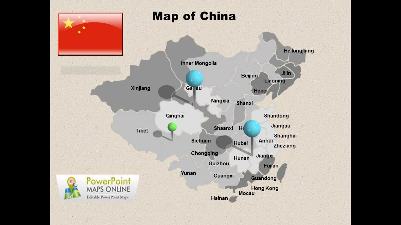 Map Of China PowerPoint Presentation YouTube - Map of united states for powerpoint presentation