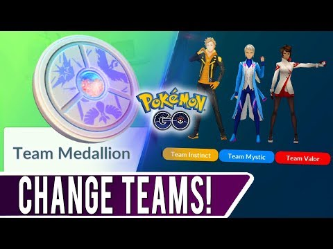 HOW TO CHANGE TEAMS IN POKEMON GO! Using The All New Team Medallion Item To Switch Teams