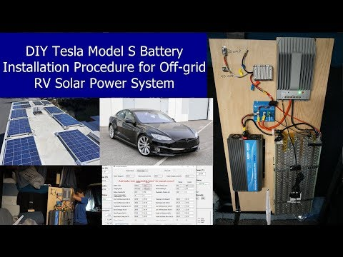 DIY Tesla Battery for Offgrid RV Solar: Full Installation Procedure