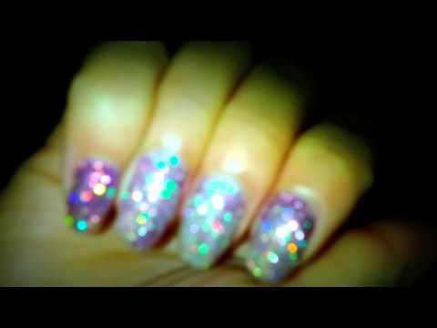 Agnes Zee ASMR Barbie Nails Holographic Multi Tone Gradient Manicure Vlog