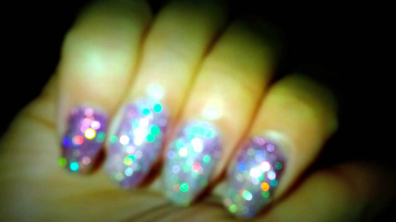 Agnes Zee ASMR Barbie Nails Holographic Multi Tone Gradient Manicure ...