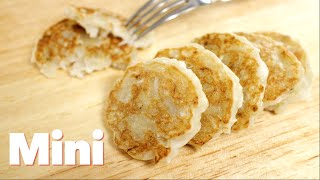 Chewy Banana Coconut Pancakes (mini)
