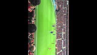 Galatasaray karabükspor wesley sneijder müthiş frikik golü ( 05.04.2015) tribün çekimi