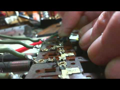Canadian General Electric KL-76 Vacuum Tube Radio Video #3 - Push Buttons