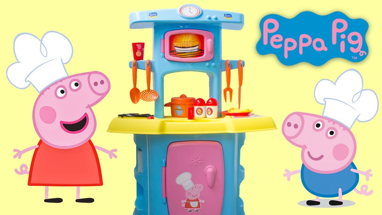 Peppa Pig Mini Kitchen Toy Review Peppa Pig Cooking Playset For Kids