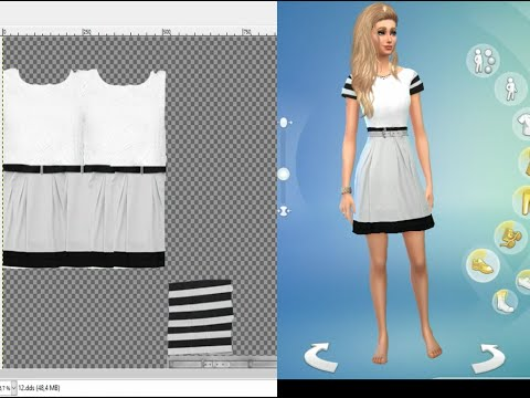 Como criar | um vestido no sims 4 studio