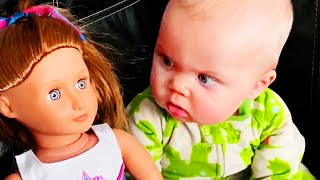 Hilarious Babies Play With Dolls - JustSmile