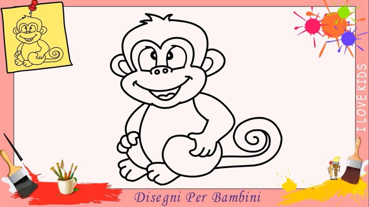 Come Disegnare Una Scimmia Facile Passo Per Passo Per Bambini 5