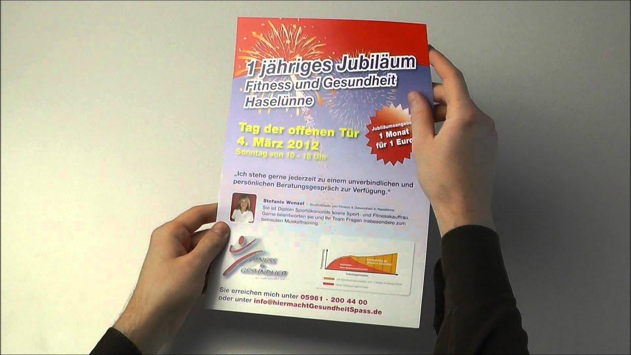 printoo.de Flyer glänzend Beispiel - YouTube
