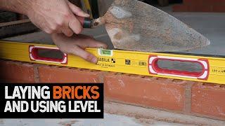 Bricklaying Basics Should you hit your level?? laying 4 bricks