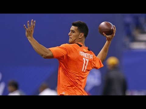 Marcus Mariota (Oregon, QB) 2015 NFL Combine highlights