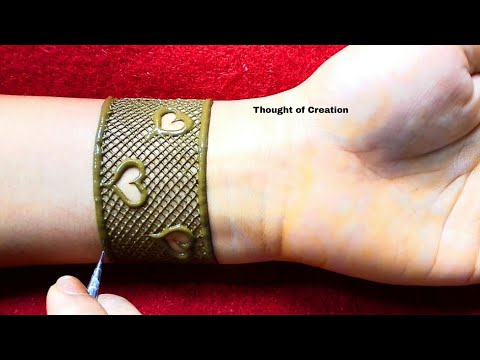 Heart Shape Mandala Henna Design for Hands |Thought of Creation