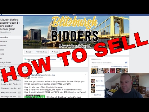 HOW TO SELL ON Blitzburgh Bidders | Pittsburgh's 24 hour dollar online auction facebook group,