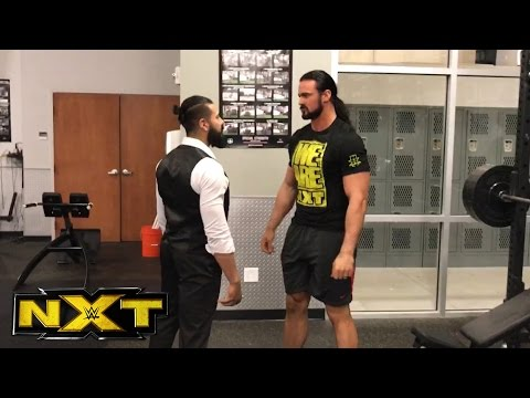 Andrade Almas interrupts Drew McIntyre's workout at the WWE Performance Center: April 19, 2017