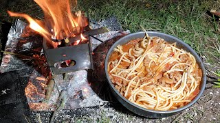 Spaghetti Bolognese | Easy backpacking meal recipe | Camp cooking