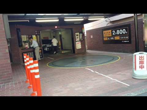 Car-Spinning Platform for Parking in Japan