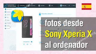 Transferir fotos desde Sony Xperia X al ordenador