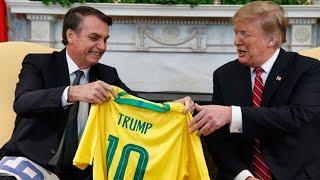 Bolsonaro bei Trump: Trikot-Tausch beim Staatsbesuch