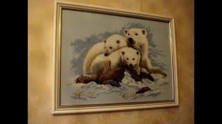 """СП """"В мире животных"""": оформление вышивки """"Белые медведи"""""""