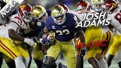 Josh Adams Highlights vs USC // 19 Carries for 191 Yards, 3 TDs // 10.21.17