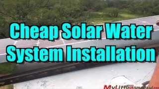 Cheap Solar Water System Installation for Water Tank - Would work for Rain Water Barrels too!