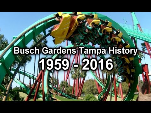 Busch Gardens Tampa Bay History 1959 2016 Youtube