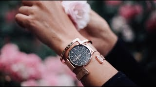 Rose Gold La Ponche Watch Collection featuring blogger Tezza in NYC | ABBOTT LYON