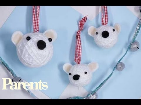 christmas crafts polar bear christmas ornaments parents youtube