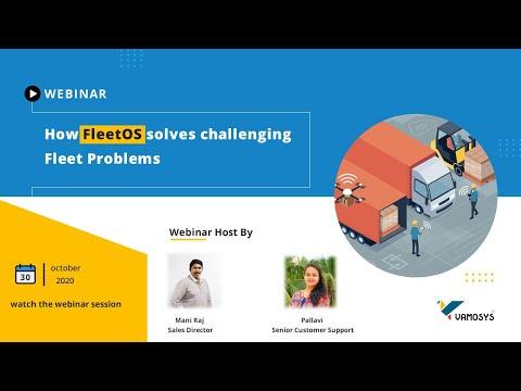 How FleetOS - Fleet Management Software Solve Challenges in Logistics Sector - VAMOSYS Webinar