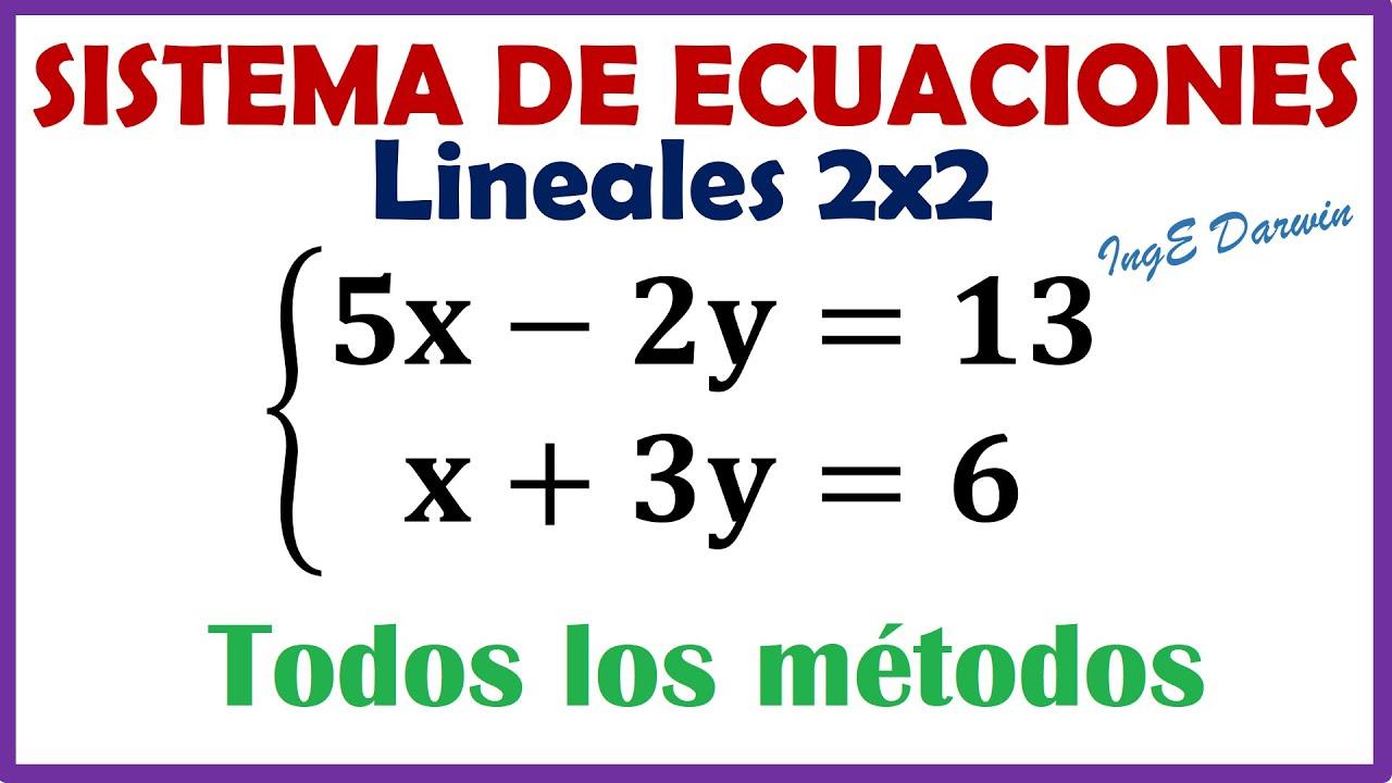 Sistema de ecuaciones: Método de Reducción, Sustitución, Igualación, Gráfico, Cramer, Gauss-Jordan