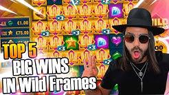 Huge wins  in new slot Wild Frames - Top 5 Big wins in casino slot