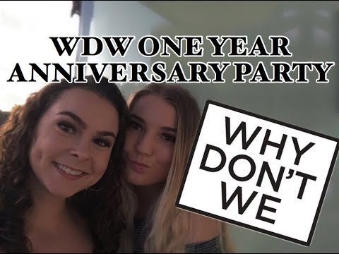 WHY DON'T WE ONE YEAR ANNIVERSARY PARTY: WDW HOUSE AND BTS FOOTAGE