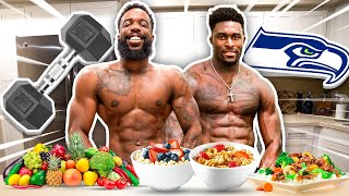 Eating & Working Out Like DK Metcalf For 24 Hours!