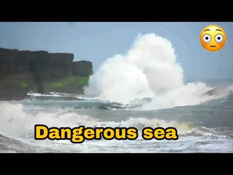 Dangerous sea at Diu | Arabian sea India | High Tide