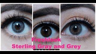 Freshlook Colorblends Grey & Sterling Gray on DARK EYES
