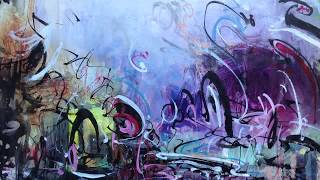 abstract landscape painting video for relax modern acrylic ink interior decor art by sj.kim, 130