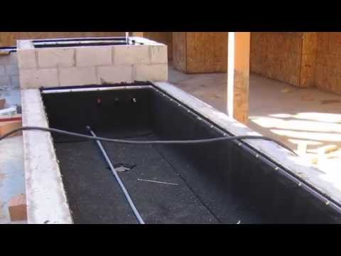 Aussie Membrane Waterproofing for Planter Boxes - YouTube