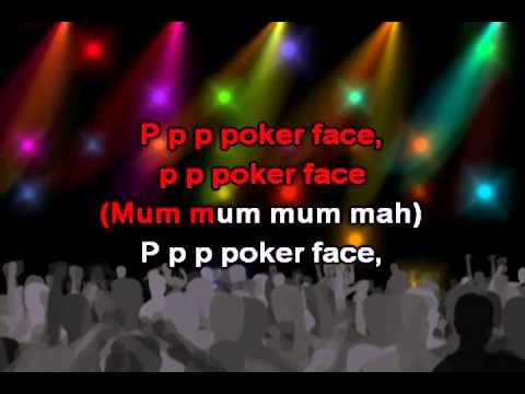 Poker Face, lyrics - Lady Gaga karaoke